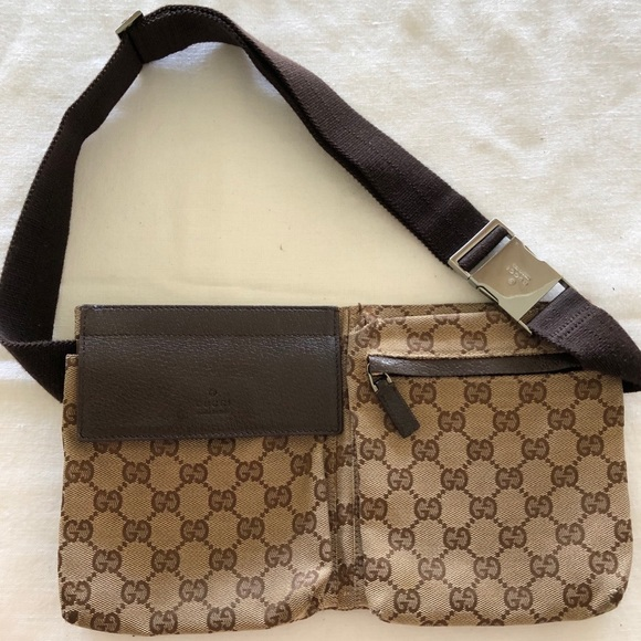0131c57f6140 Gucci Bags | Vintage Double Belt Bag Gg Canvas | Poshmark